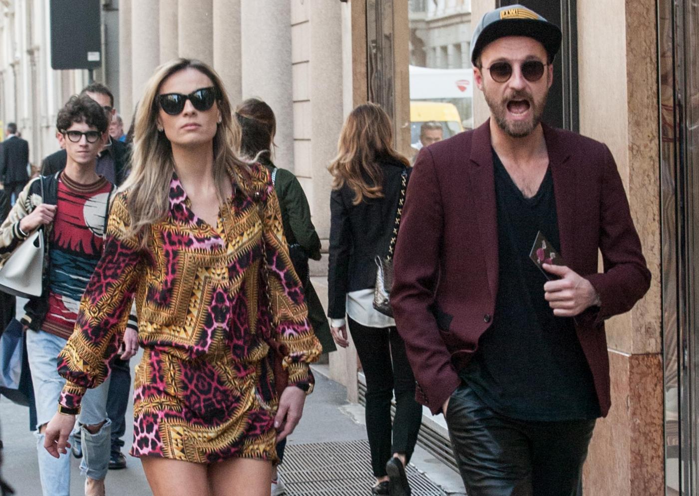 Francesco Facchinetti, shopping a via Montenapoleone con Wilma Faissol10
