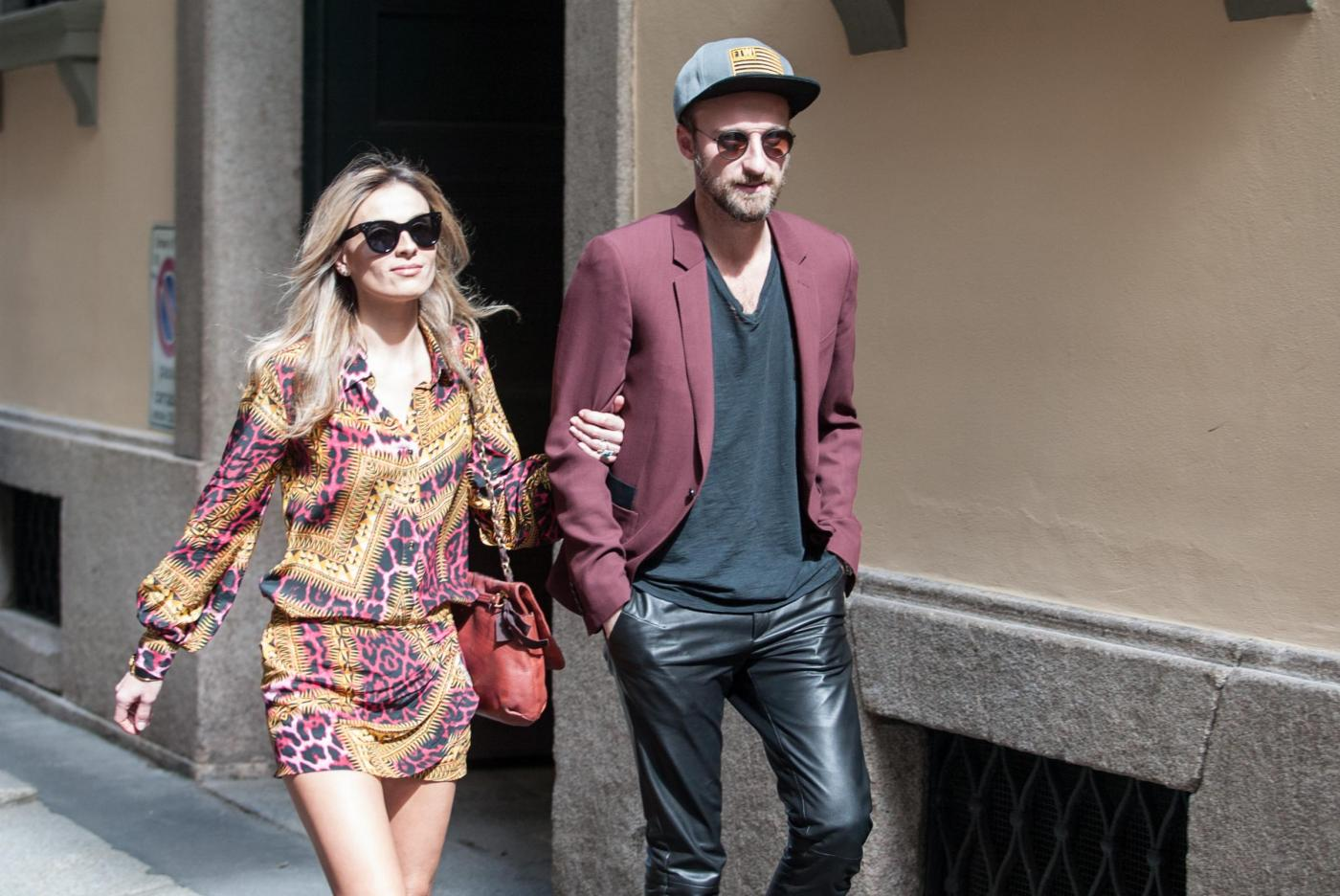 Francesco Facchinetti, shopping a via Montenapoleone con Wilma Faissol20