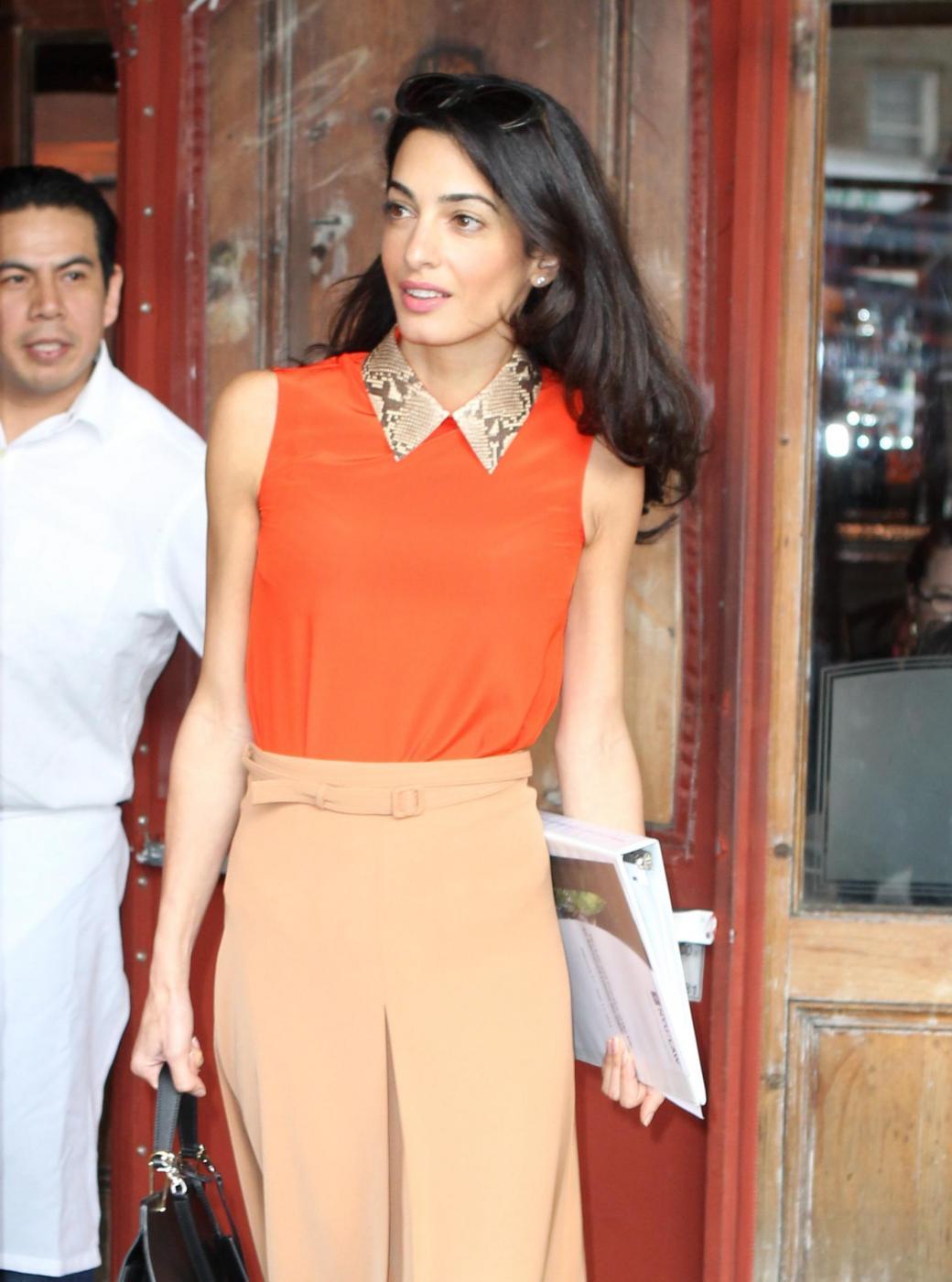 Amal Alamuddin magrissima, lady Clooney quasi scheletrica FOTO 1