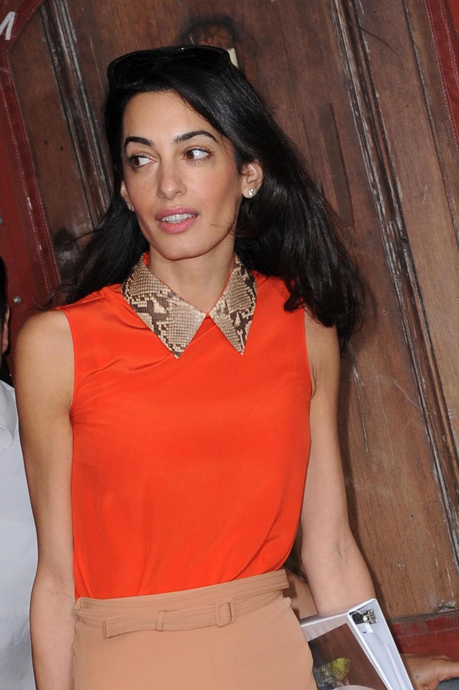 Amal Alamuddin magrissima, lady Clooney quasi scheletrica FOTO 10
