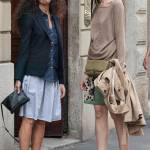 Afef e l'amica con i capelli lisci insieme in via Montenapoleone FOTO02