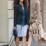 Afef e l'amica con i capelli lisci insieme in via Montenapoleone FOTO07