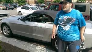 Usa, veterano sfonda vetro auto per salvare cane e viene arrestato FOTO4