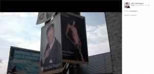 """Danimarca, candidato presidenziali in """"nude look"""" sul manifesto elettorale FOTO04"""