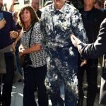 """David Letterman, addio """"Late Show"""" con Bill Murray che spunta da torta FOTO, VIDEO08"""