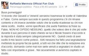 Uomini e Donne, Raffaella Mennoia commenta così la scelta di Fabio Colloricchio
