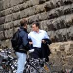 "Firenze, Ron howard e Tom Hanks sul set di ""Inferno"" 08"
