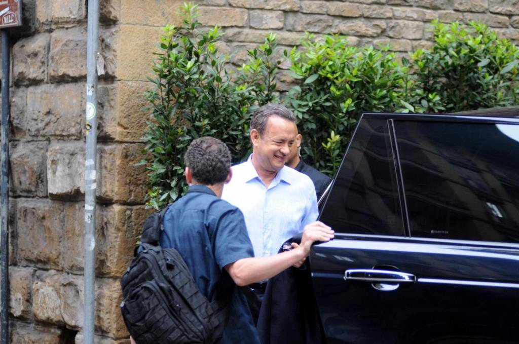 "Firenze, Ron howard e Tom Hanks sul set di ""Inferno"" 01"