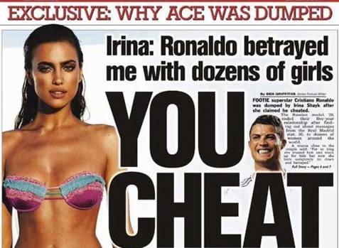 """Irina Shayk: """"Cristiano Ronaldo mi ha tradito con decine di donne"""""""