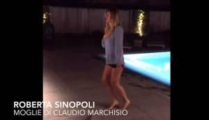 Roberta Sinipoli (moglie di Claudio Marchisio) e il balletto sexy in piscina VIDEO