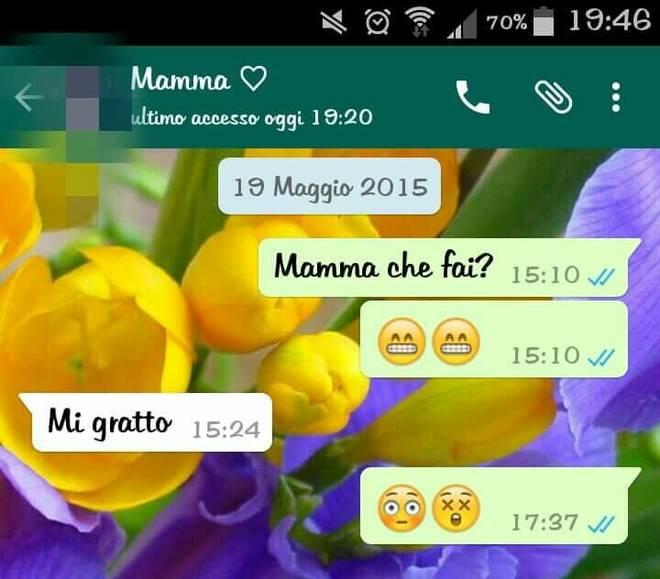 Mamme scrivono ai figli su WhatsApp. Su Facebook le chat più divertenti 10