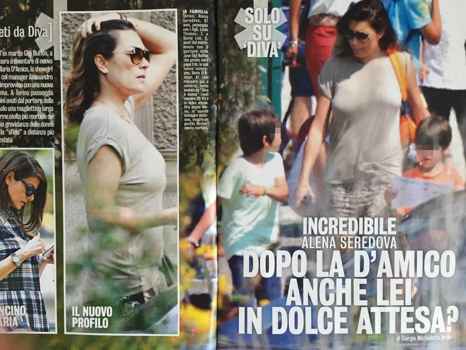 """Alena Seredova incinta? Diva e Donna: """"Profilo decisamente morbido"""""""