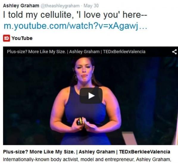 Ashley Graham, la modella curvy che ama la sua cellulite