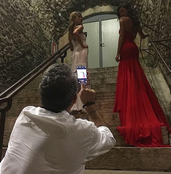 Belen Rodriguez e Elena Santarelli all'Arena di Verona FOTO 9