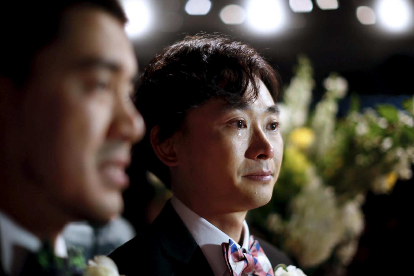 Sette coppie omosessuali cinesi si sposano a Los Angeles06