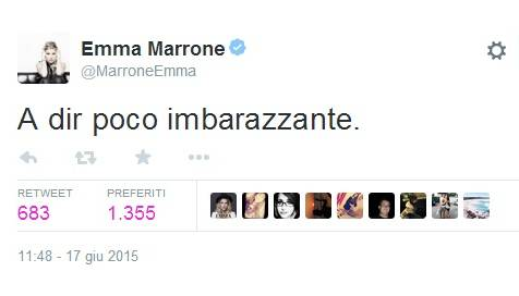 "Emma Marrone tweet: ""A dir poco imbarazzante"". Parla delle foto con Fabio Borriello?"