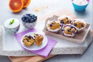 Ricette di dolci: muffin light ai mirtilli