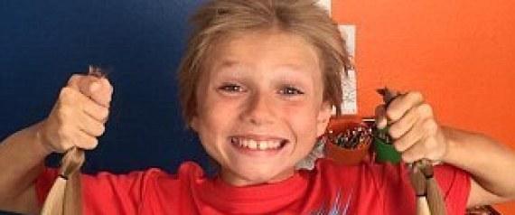 A 8 anni si fa crescere capelli per aiutare bambini malati di cancro FOTO, VIDEO06