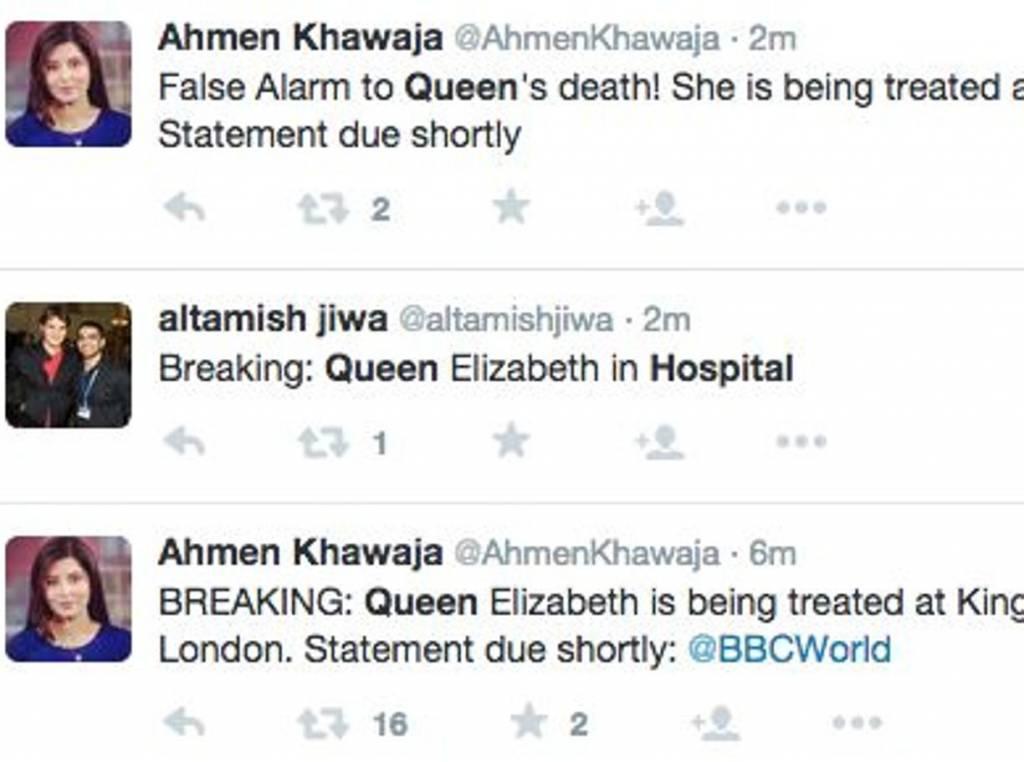 """GB: """"Regina morta"""". Tweet sbagliato della Bbc """"durante prove di necrologio"""" FOTO"""