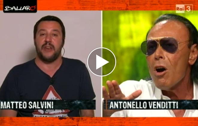 VIDEO scontro Salvini-Venditti in diretta tv a Ballarò