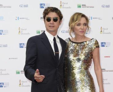Riccardo Scamarcio e Valeria Golino sul red carpet dei David di Donatello 2015