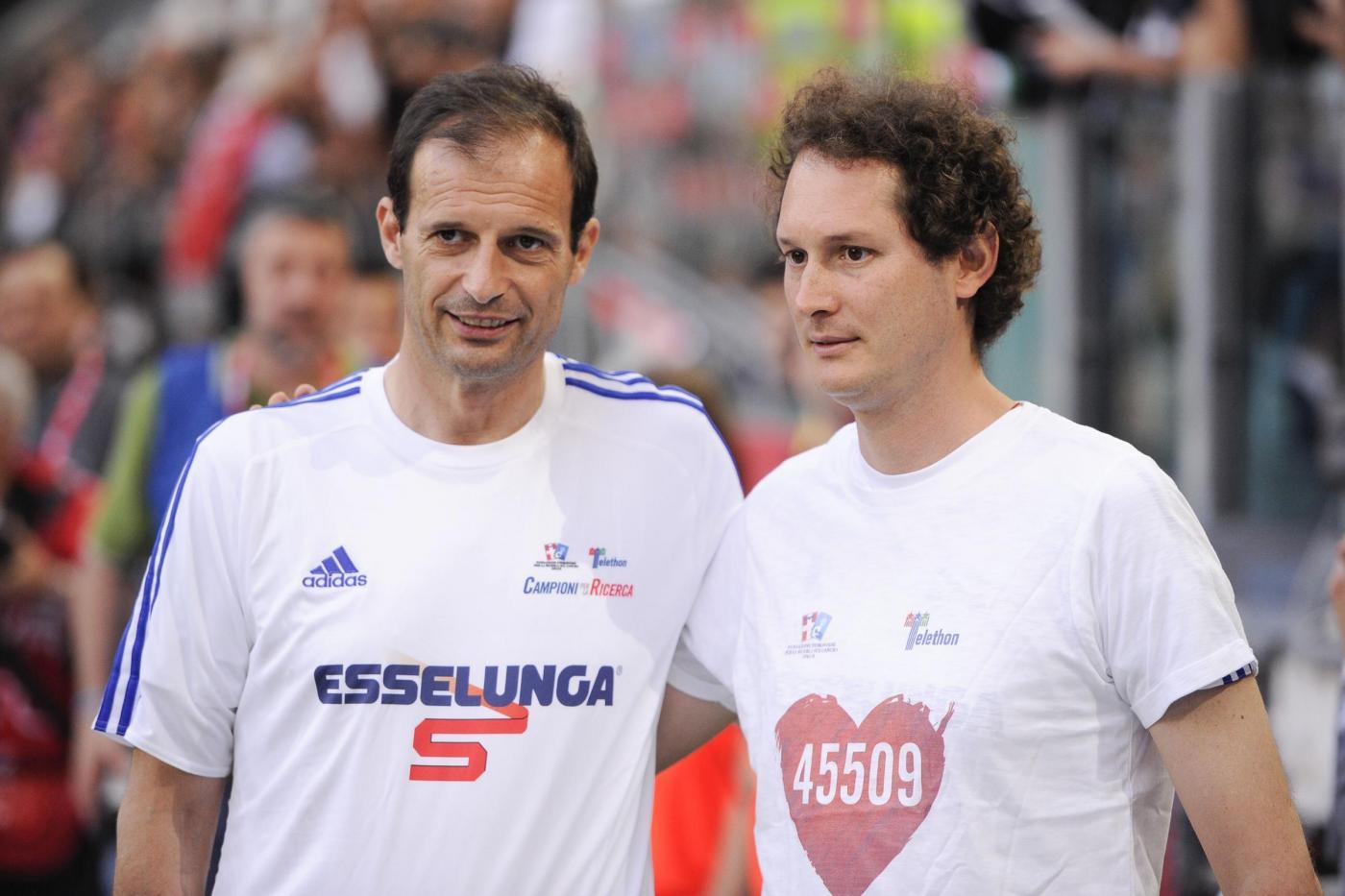 Massimiliano Allegri, Del Piero, Eros Ramazzotti, alla partita del cuore FOTO5