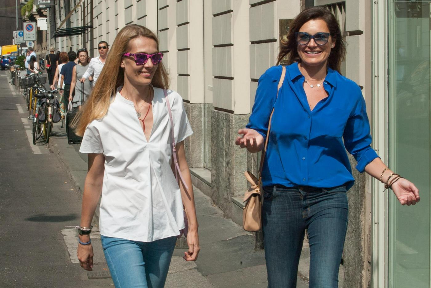Alena Seredova e Lavinia Borromeo fanno shopping a Milano FOTO 1