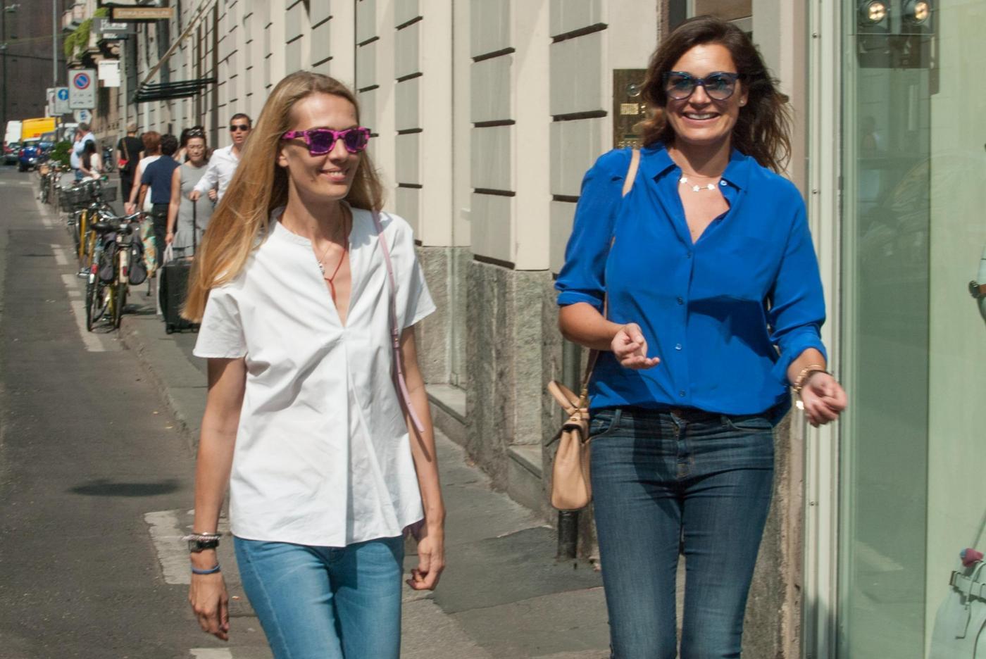 Alena Seredova e Lavinia Borromeo fanno shopping a Milano FOTO 3