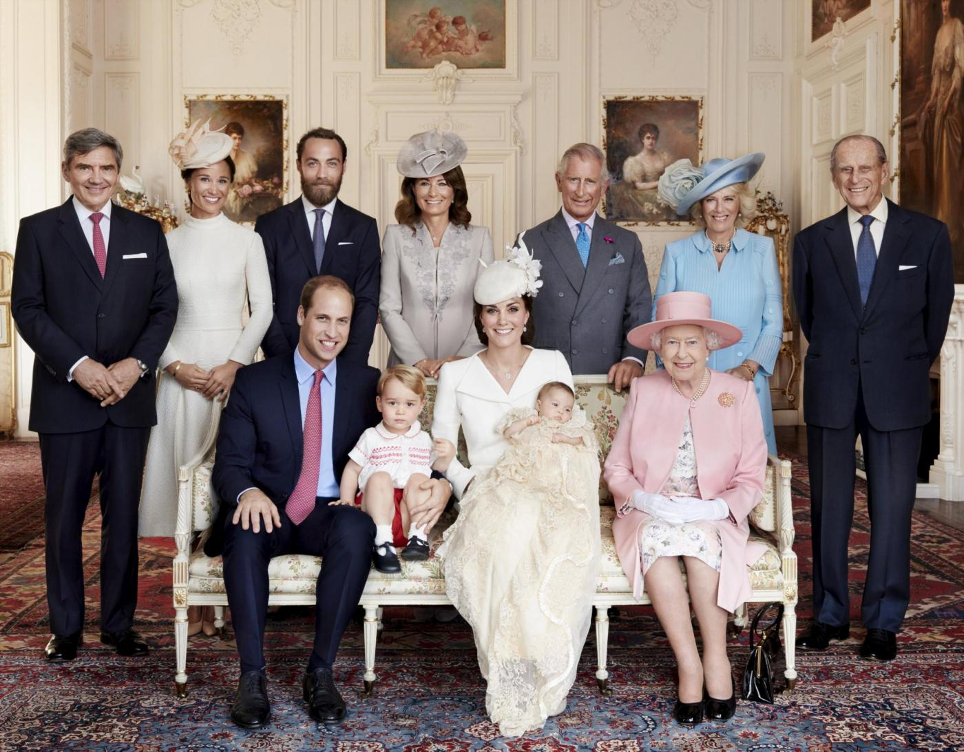 Kate Middleton, foto ufficiali Mario testino battesimo piccola Charlotte 5