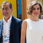 Letizia Ortiz di Spagna all'Expo sceglie ancora il total white 5