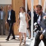 Letizia Ortiz di Spagna all'Expo sceglie ancora il total white 3