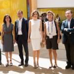 Letizia Ortiz di Spagna all'Expo sceglie ancora il total white 13