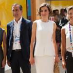 Letizia Ortiz di Spagna all'Expo sceglie ancora il total white 8