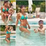 Anna Tatangelo, bikini da urlo in piscina con il figlio Andrea FOTO