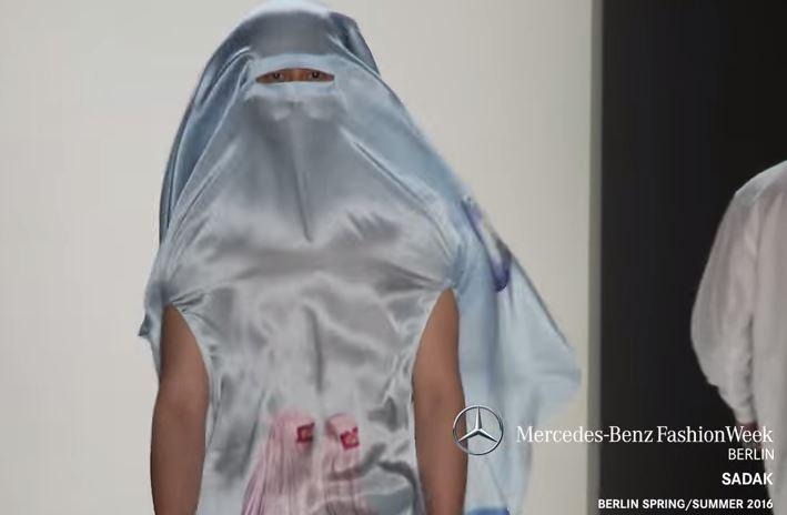Uomini col burqa in passerella: la provocazione del designer Sasa Kovacevic VIDEO