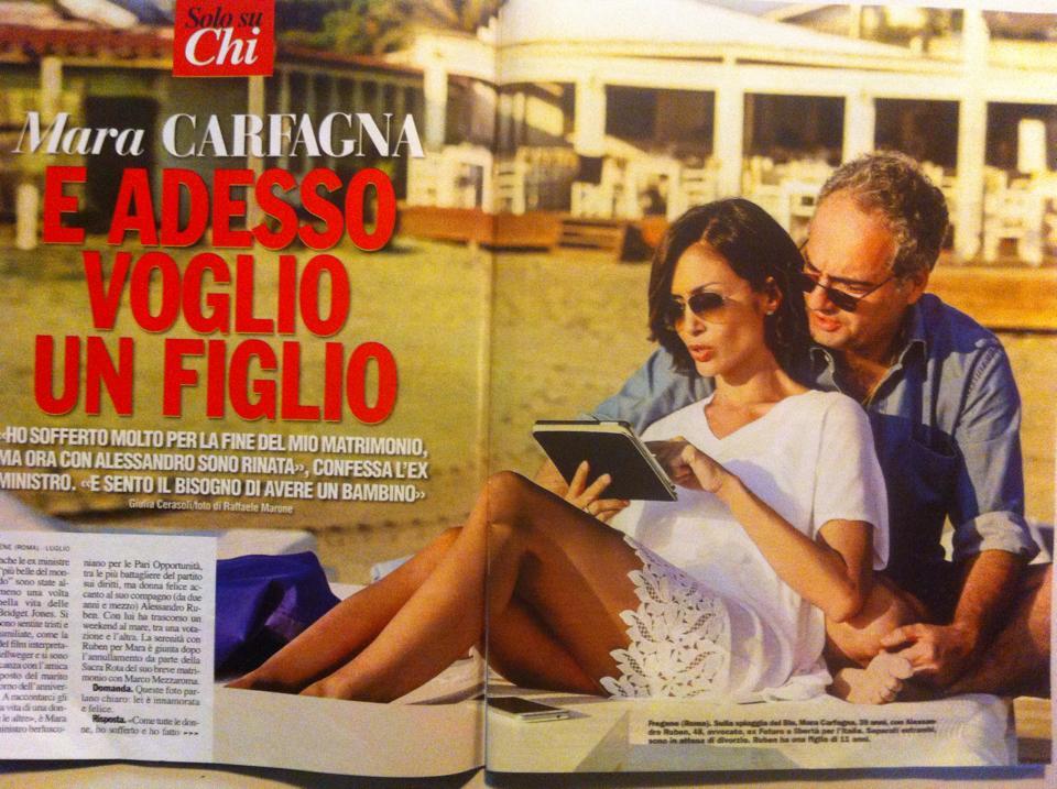 """Mara Carfagna su """"Chi"""": """"Rinata con Alessandro Ruben3"""