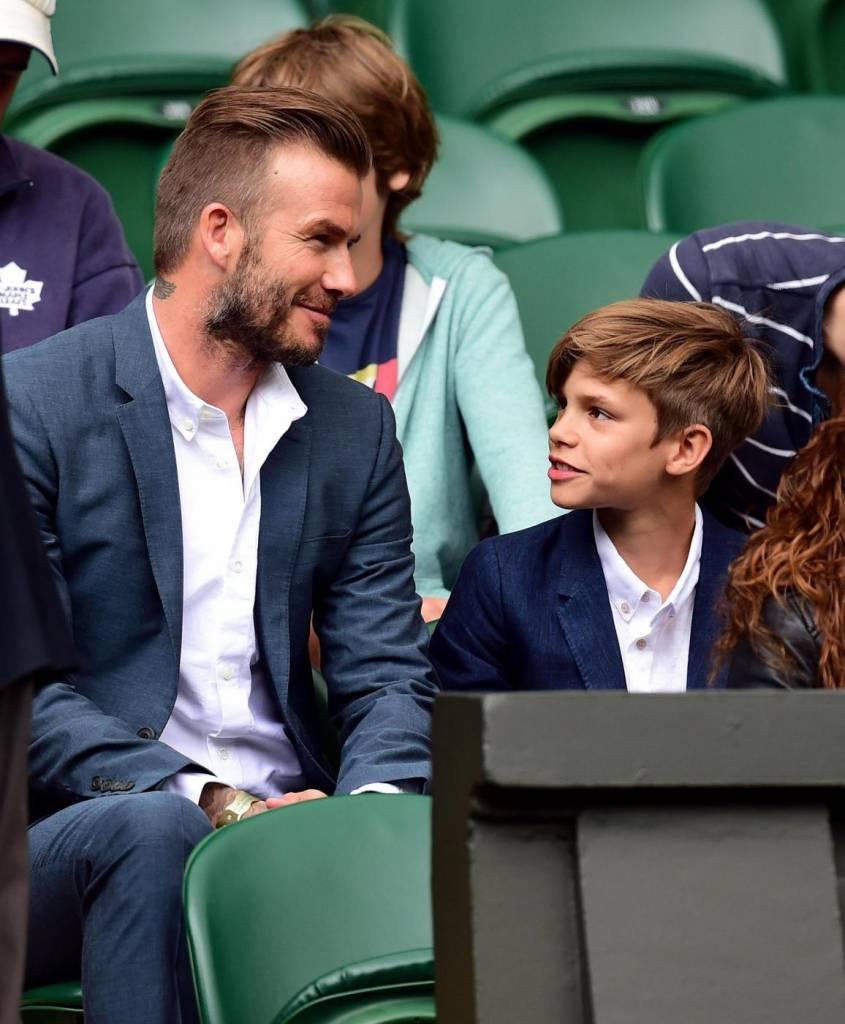 David Beckham papà ideale: a Wimbledon con il figlio Romeo8