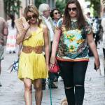 Elena Barolo, shopping in via Montenapoleone col cagnolino Whisky e l'amica11