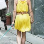 Elena Barolo, shopping in via Montenapoleone col cagnolino Whisky e l'amica08