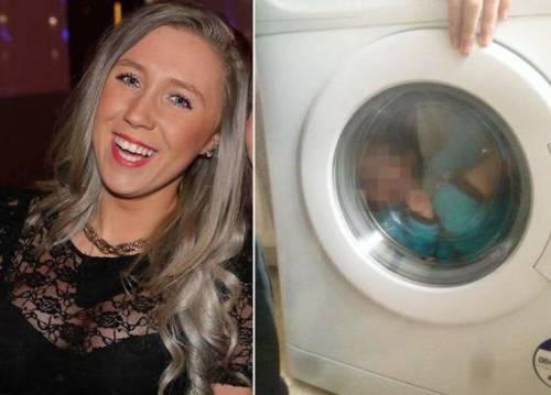 Mette il figlio down in lavatrice: l'orrore postato sui Social