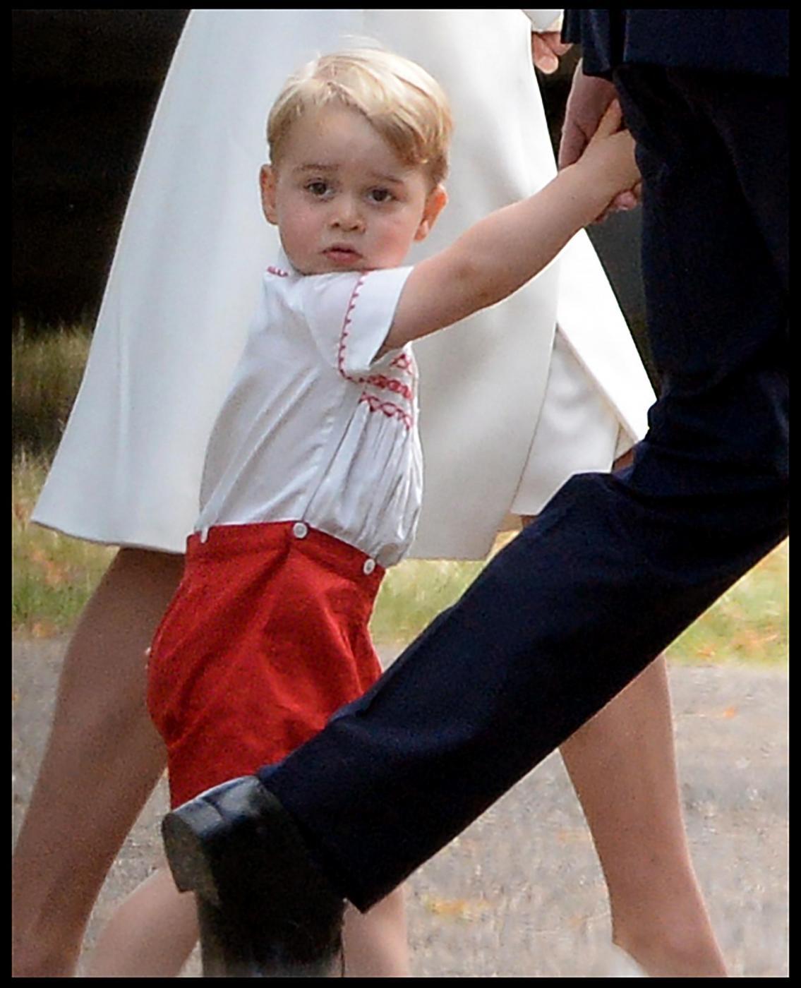 George di Cambridge al battesimo di Charlotte