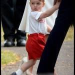 George di Cambridge al battesimo di Charlotte3