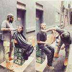 Nasi Sobhani, il barbiere che taglia capelli gratis ai barboni di Mebourne10