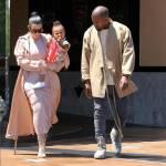 Kim Kardashian incinta, al cinema con Kanye West e la piccola North4