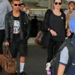 """Maddox con i capelli """"punk-rock"""" e vestito di nero come mamma Angelina Jolie 8"""