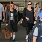 """Maddox con i capelli """"punk-rock"""" e vestito di nero come mamma Angelina Jolie 7"""