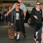 """Maddox con i capelli """"punk-rock"""" e vestito di nero come mamma Angelina Jolie 4"""