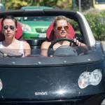 Michelle Hunziker e Aurora a Forte dei Marmi: pochi sorrisi, facce serie 7