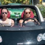 Michelle Hunziker e Aurora a Forte dei Marmi: pochi sorrisi, facce serie
