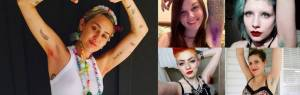 Miley Cyrus con l'ascella non rasata tinta di rosa1